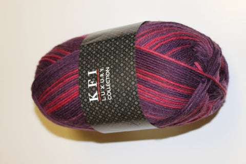 Brand New KFI Self Striping Yarn with Cashmere