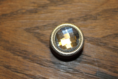 Regular Magnet Button: Clear Jewel