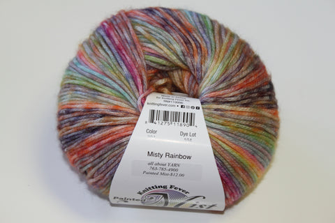 Knitting Fever Painted Mist Yarn Misty Rainbow