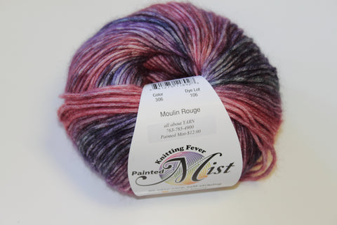 Knitting Fever Painted Mist Yarn Moulin Rouge