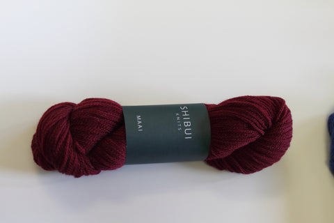 Shibui Maai Yarn Color Bordeaux