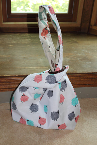 All About Yarn Project Bag Sheep Reversible