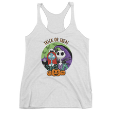 Haunted Mansion/Jack & Sally Trick or Treat - Ladies Racerback Tank