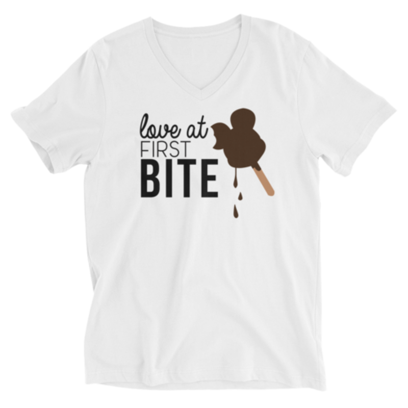 Love at first Bite - Mickey Bar - V-Neck Unisex Tee