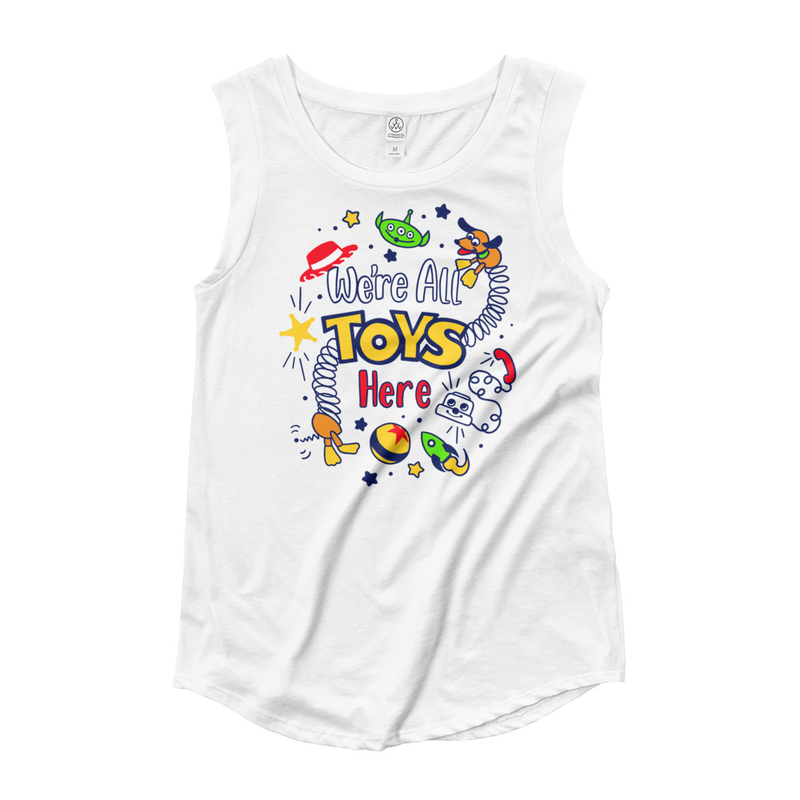 We're All Toys Here! - Ladies Cap Sleeve T-Shirt