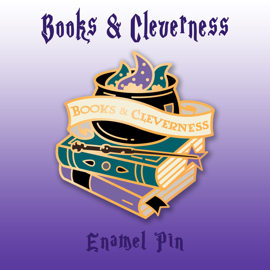 Books & Cleverness Enamel Pin