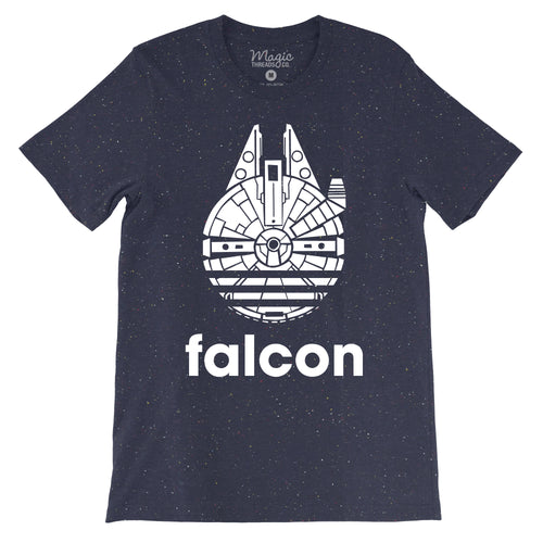 Falcon - Never Tell Me The Odds - Unisex Speckled Tee