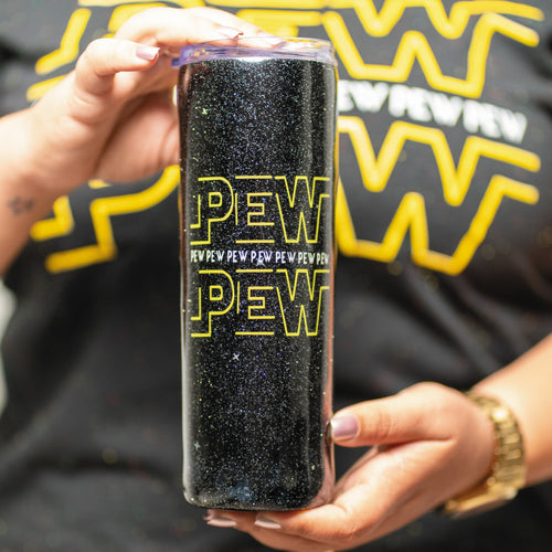 Pew Pew - Star Wars - 20 oz Stainless Steel Tumbler - Customizable
