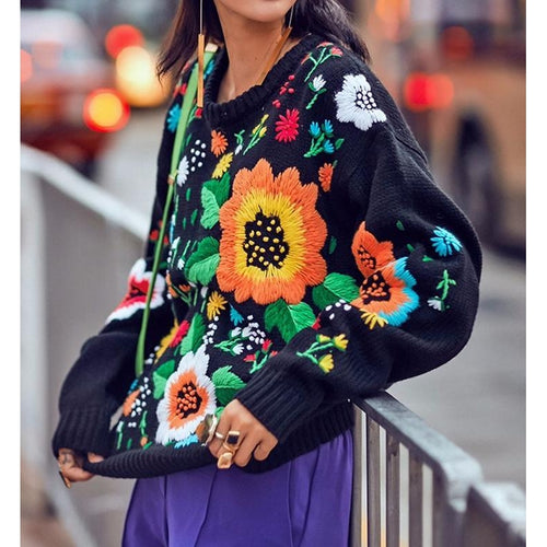 Fiore Embroidered Sweater