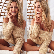 Off the Shoulder Boho Sweater