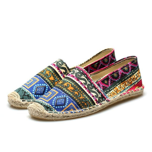 Patchwork Print Casual Shoes