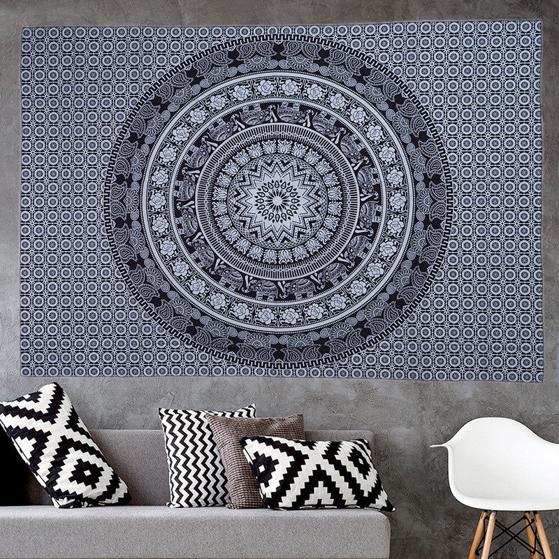 Elephant Mandala Decorative Towel