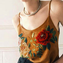 Suede Embroidery Top