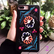 Floral Embroidered iPhone Cases