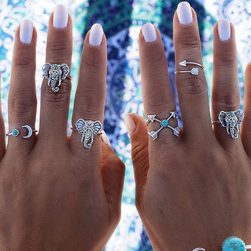Elephant Ring set 6pcs