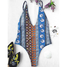 Patchwork Print One-piece Swimsuit