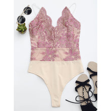 Embroidered One Piece Swimsuit