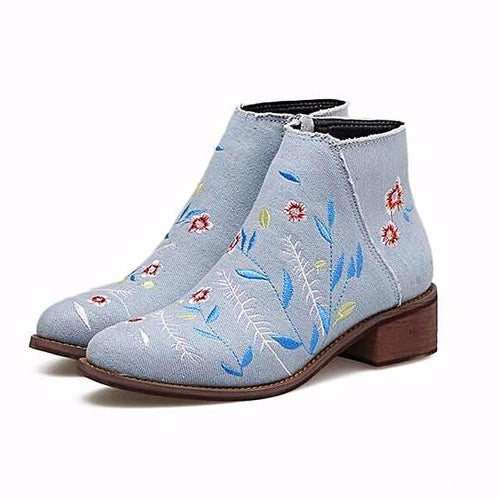 Floral Embroidered Boots