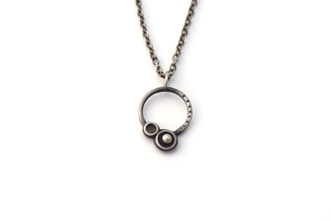 Sterling Silver Orbital Necklace