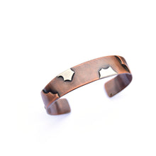Copper and Sterling Silver Remnant Cuff