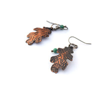 Copper Oak Leaf Earrings