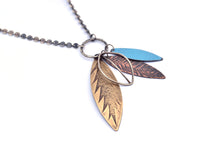 Mixed Metal Leaf Pendant