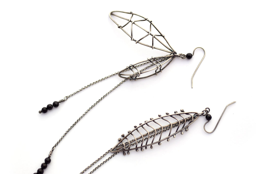 Cage Leaf Statement Earrings