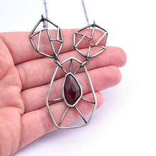 Fractured Statement Pendant, Carnelian