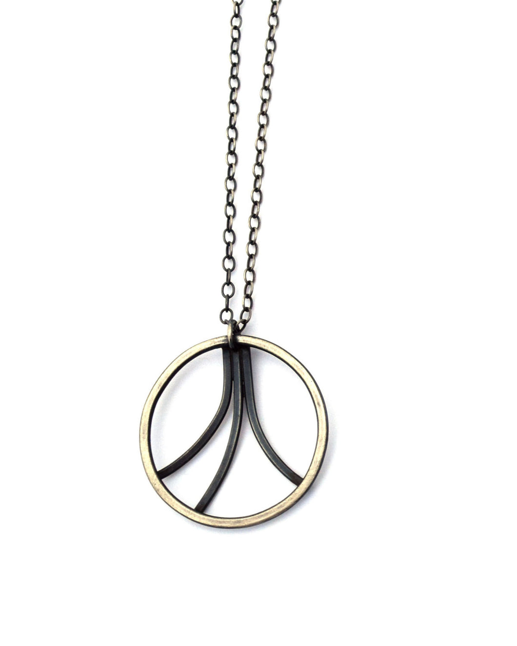 Diverge Layering Necklace, Sterling Silver