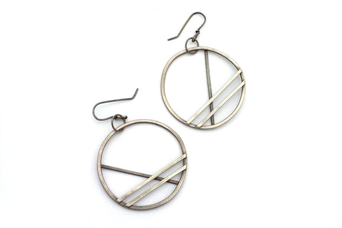 Extra Large Sterling Silver Hoop Earrings