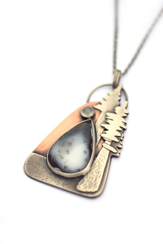Coastal Redwood Pendant Necklace