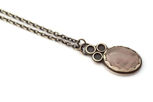 Rose Quartz Eyelet Lace Pendant, Medium