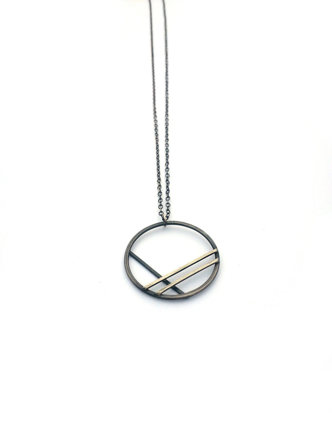 Geometric Long Layering Necklace