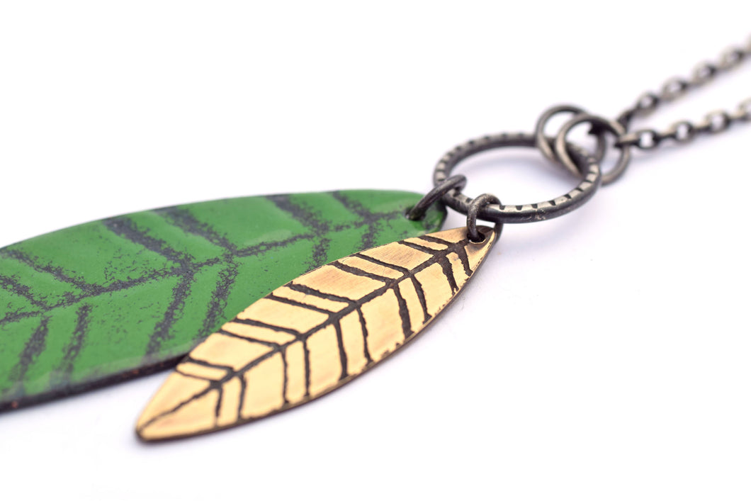 Green Leaf Pendant