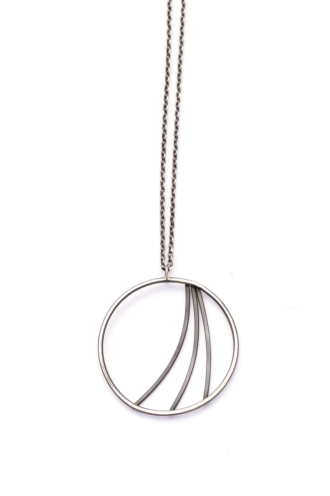 Geometric Layering Necklace, Swoosh