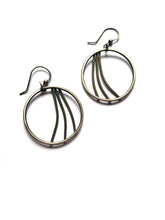 Sterling Silver Hoop Earrings, Swoosh