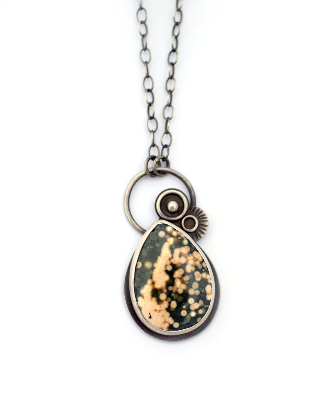 Ocean Jasper and Sterling Silver Necklace