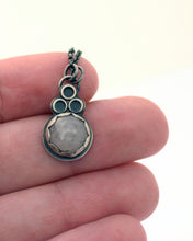 Rose Quartz Eyelet Lace Pendant, Tiny
