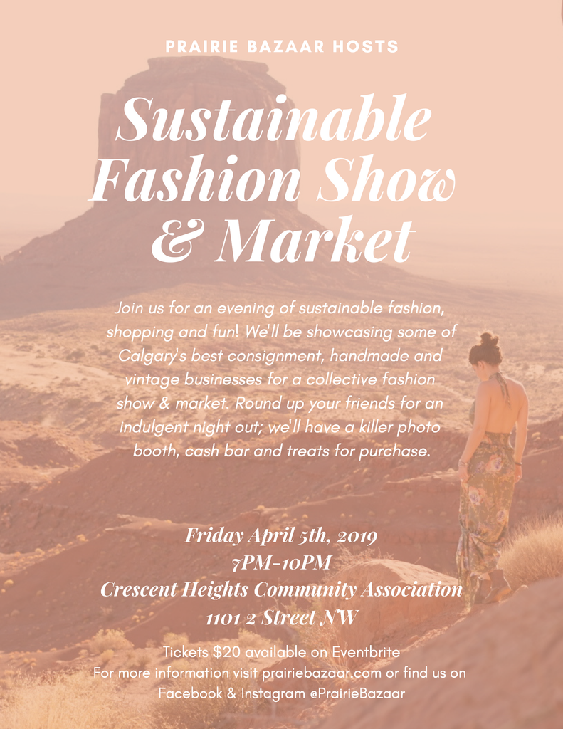 Sustainable Fashion Show & Market in Calgary, AB