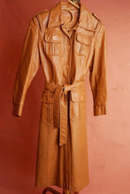 Tan Leather Trench Coat