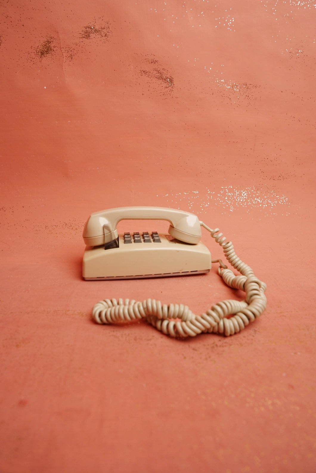 Beige Wall Phone
