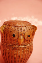 Wicker Owl Basket
