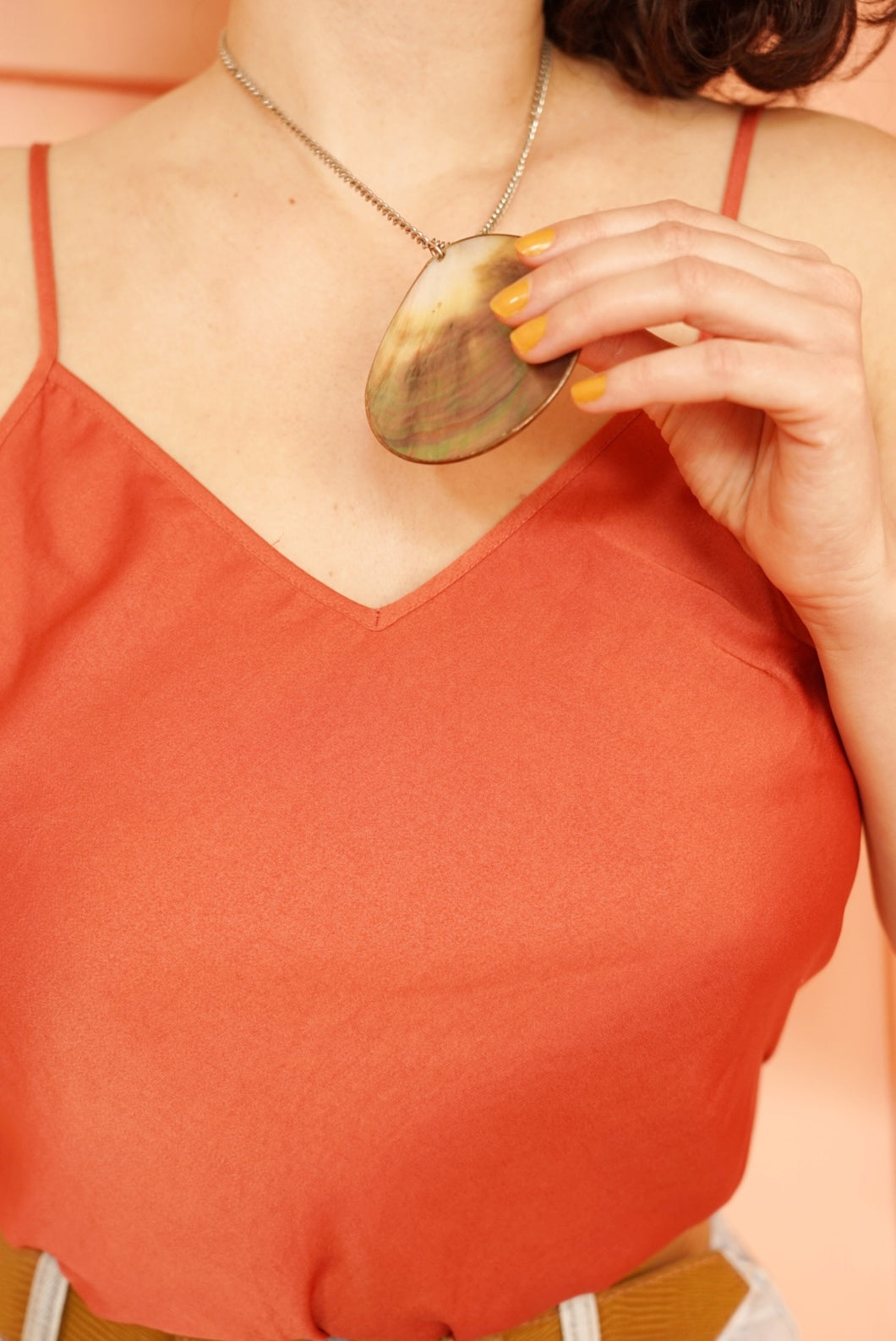Iridescent Shell Necklace