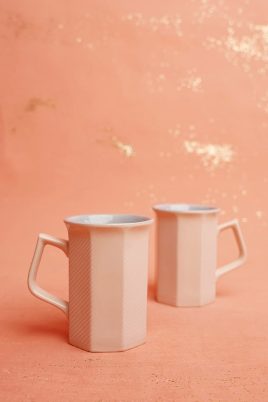 Pink and White Mugs
