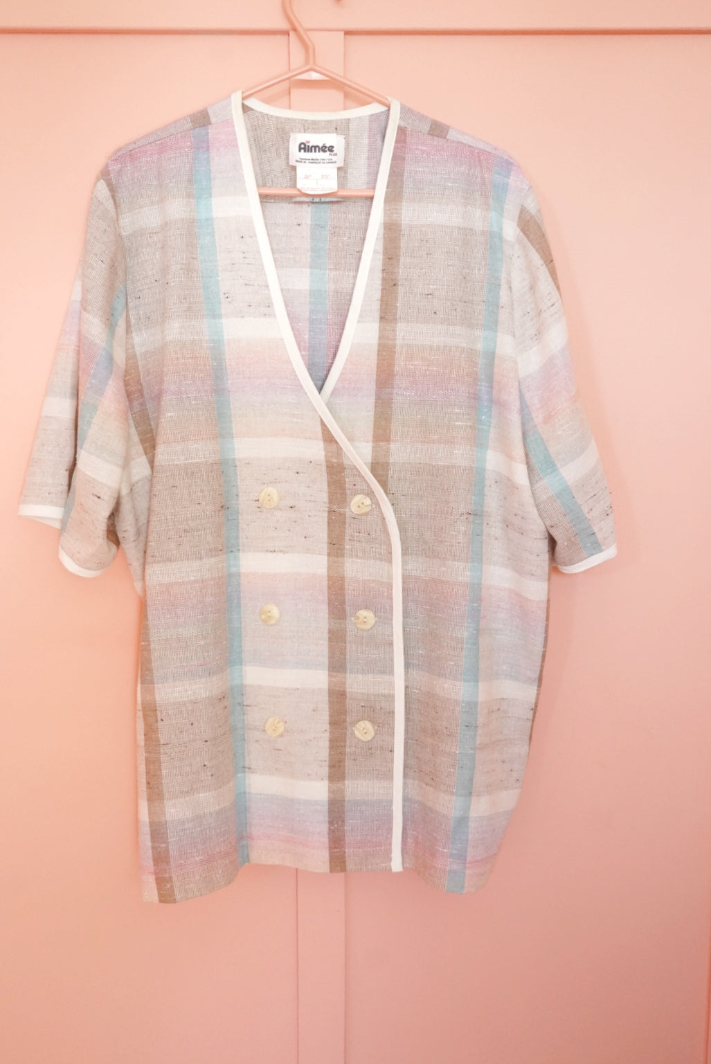 Plaid Blazer Jacket 2X