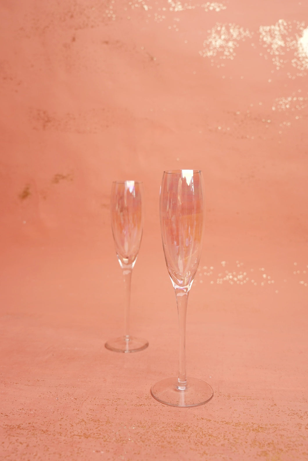 Iridescent Champagne Flutes
