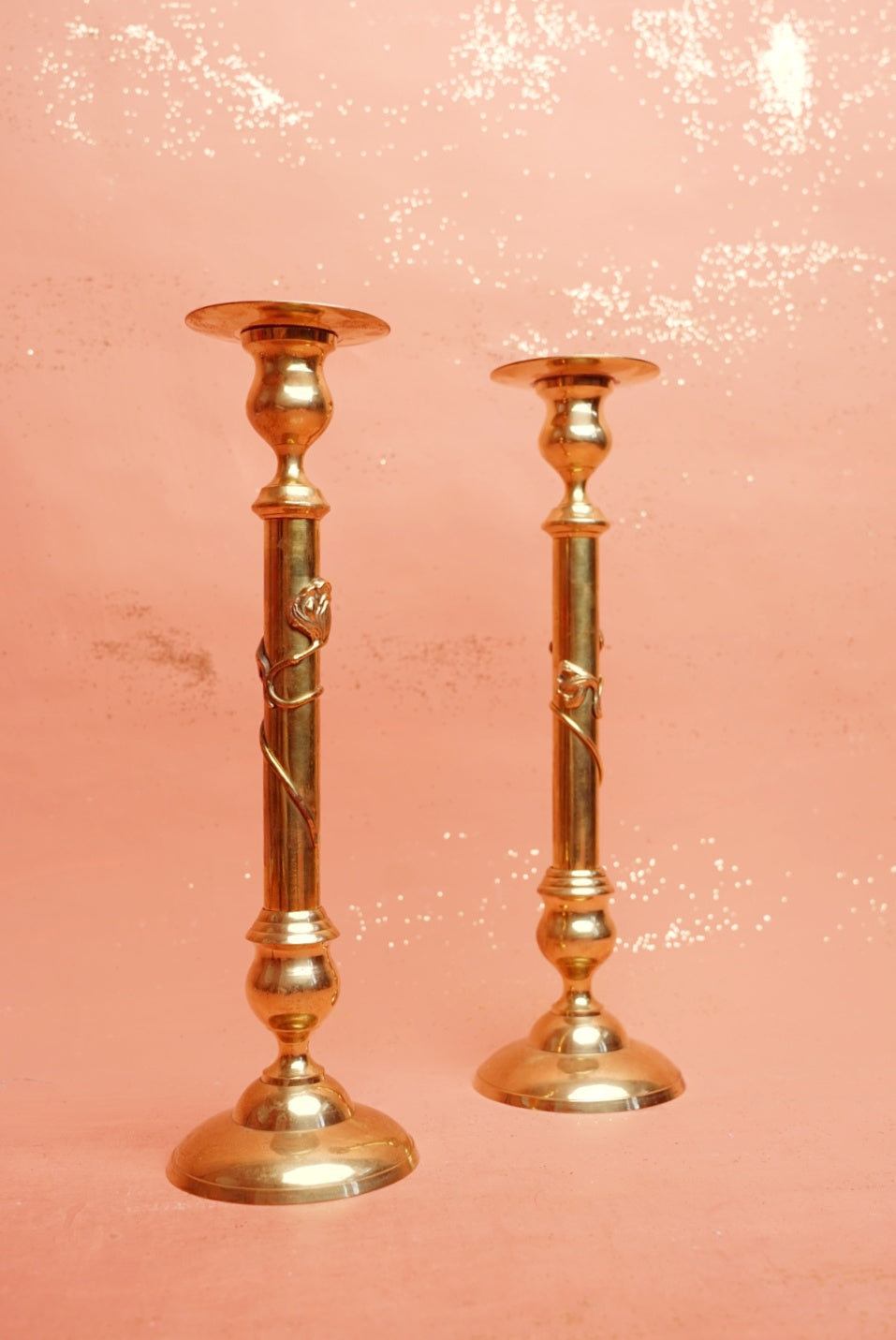 Large Gold Candlesticks