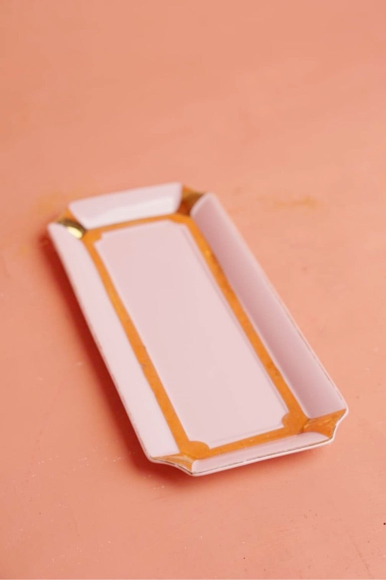 Pink Porcelain Tray