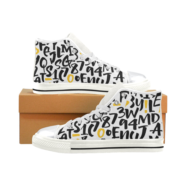 Alphabet Print Shoes