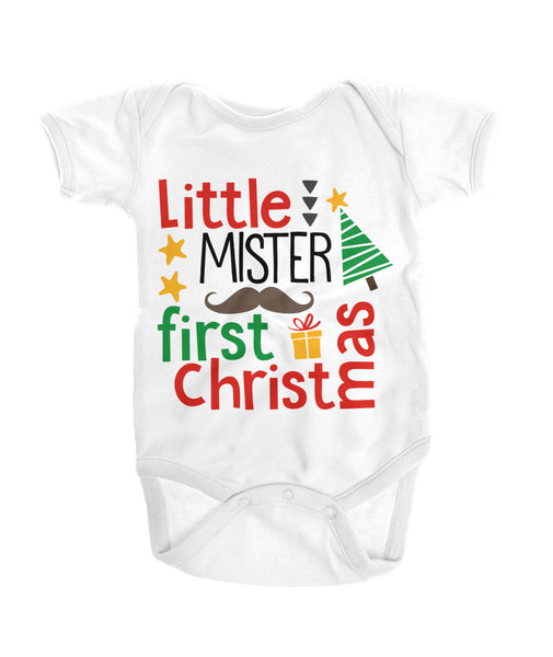 Little Mister First Christmas Onesies